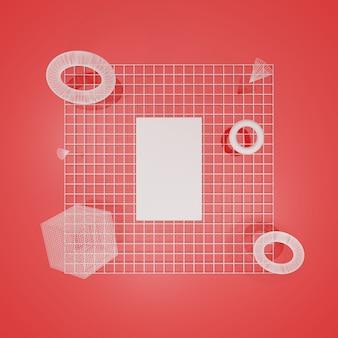 Papier d'affiche de maquette de rendu 3d