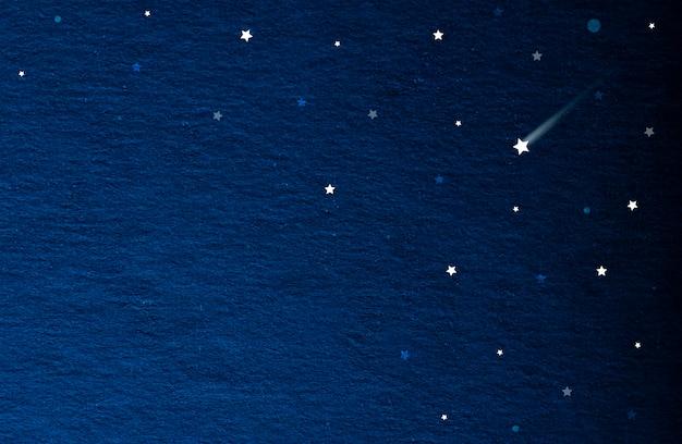 Papier ancien en bleu vieux concept de design vintage du ciel avec des étoiles