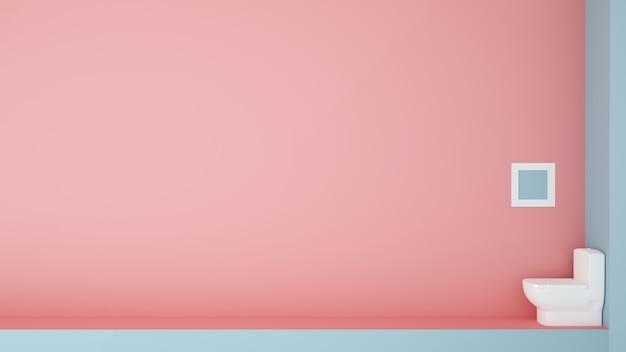 Papier art concept illustration toilette pastel couleur fond - rendu 3d