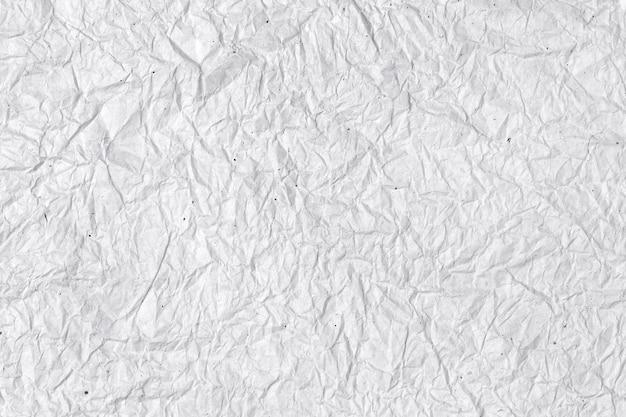 Papier blanc froissé