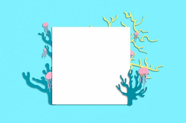 Papier blanc avec des silhouettes de colar