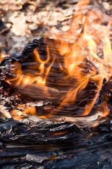 Papier brûlant