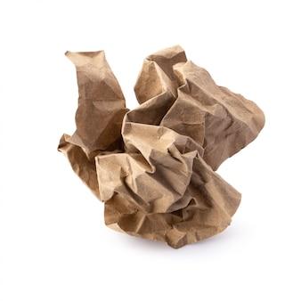Papier brun usagé isolé