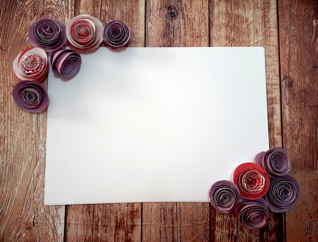 Papier avec cadre en lilas