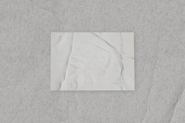 Papier collé vierge sur wall.template maquette pour ajouter votre design