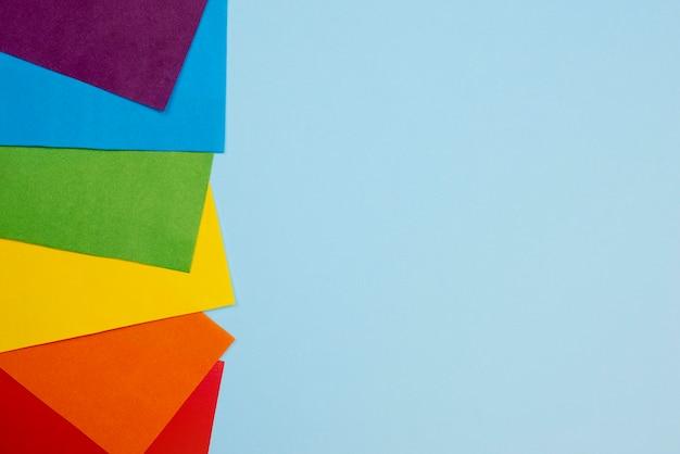 Papier coloré copie espace