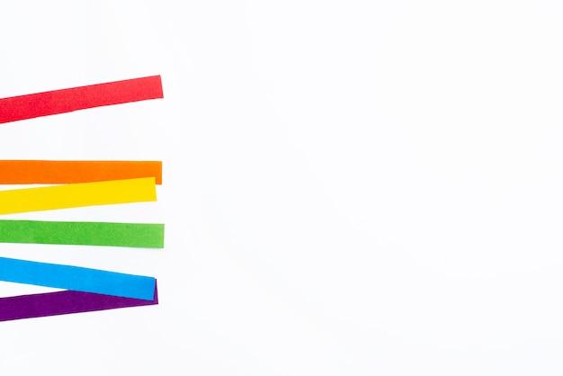 Papier couleur arc-en-ciel