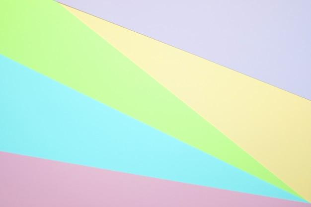 Papier de couleur pastel à plat