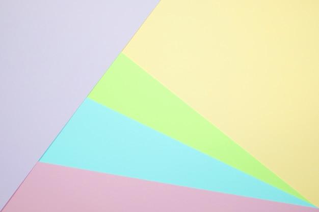Papier de couleur pastel vue de dessus