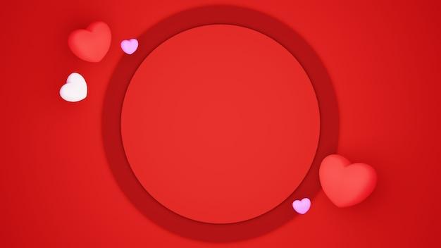 Papier coupé fond sur le concept de célébration de fond rouge pour les femmes heureuses, papa maman, coeur doux, bannière ou brochure anniversaire voeux conception de carte-cadeau