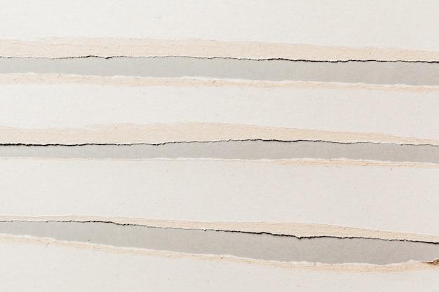 Papier déchiré blanc