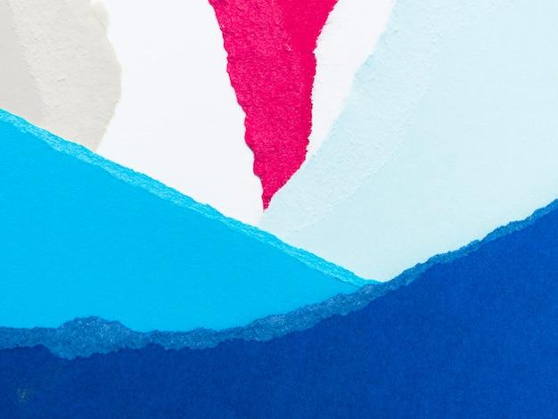 Papier déchiré coloré en couches