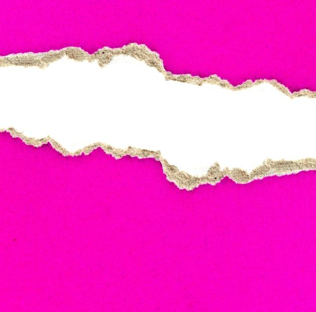 Papier déchiré isolé sur fond blanc