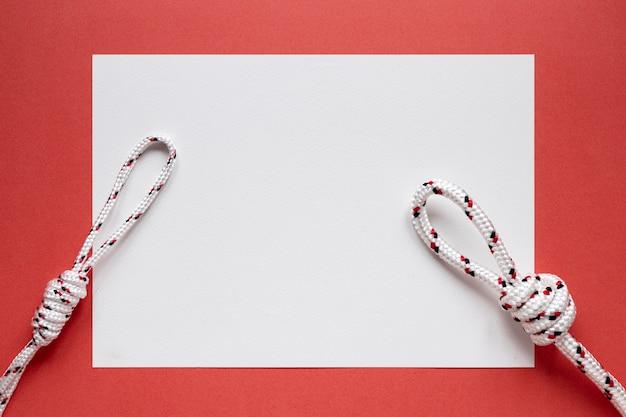 Papier espace copie noeuds de corde nautique blanche