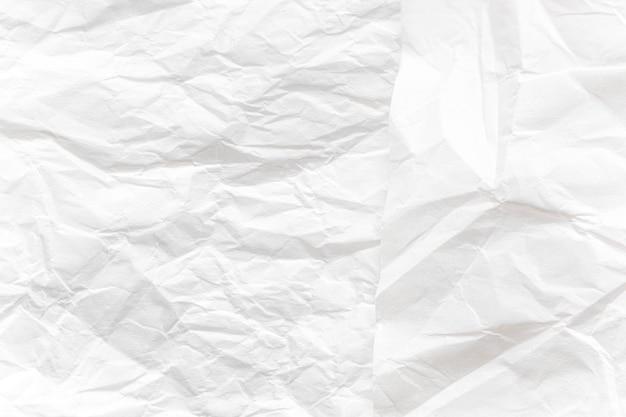 Papier froissé blanc bouchent fond de texture