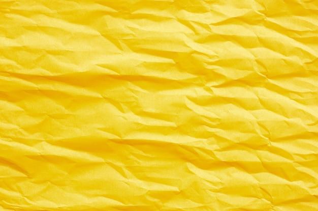 Papier froissé jaune doré