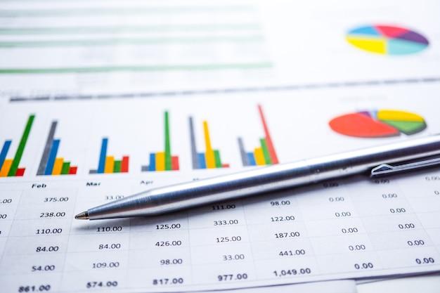 Papier graphique. économie des données financières, de compte, statistiques, de recherche analytique, affaires