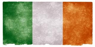 Papier irlande drapeau grunge