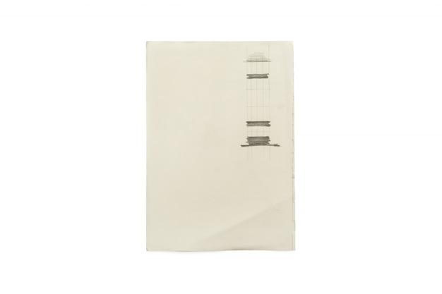 Papier isolé sur fond blanc.