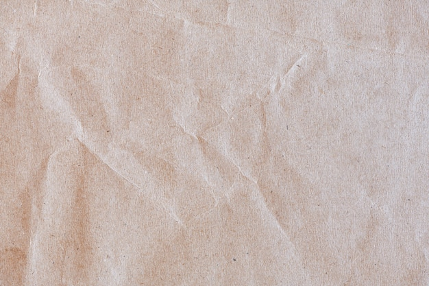 Papier kraft brun froissé texturé