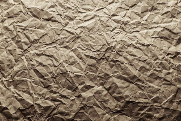 Papier kraft froissé abstrait