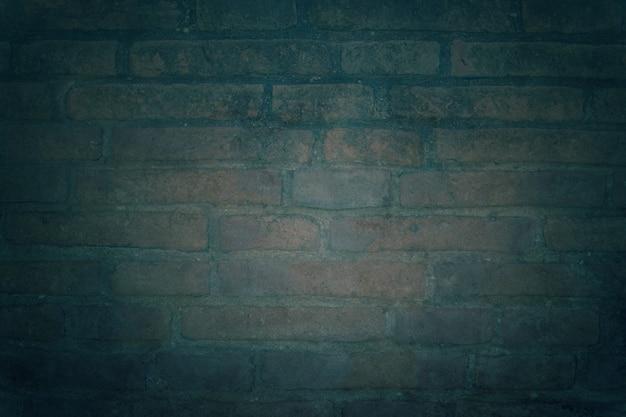 Papier peint bleu foncé et vintage en briques de ciment