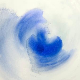 Papier peint de coups de pinceau décoratif à la main sur la mousse blanche