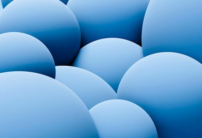 Papier peint créatif avec des sphères bleues