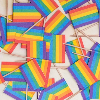 Papier peint drapeaux multicolores lgbt