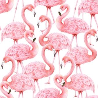 Papier peint flamants roses