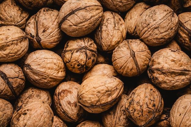 Papier peint flat lay walnuts