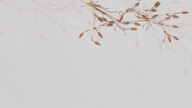 Papier peint floral ton terre