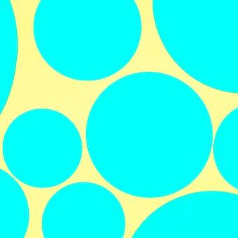 Papier peint en forme de cercle jaune et bleu