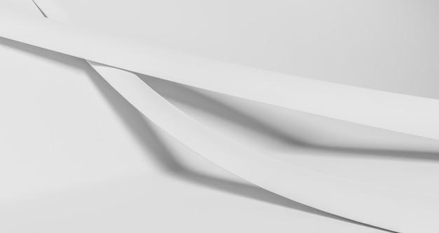 Papier peint formes géométriques blanches