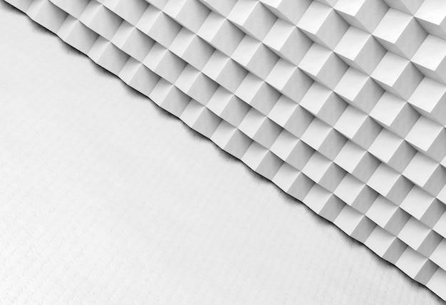 Papier peint géométrique moderne blanc avec des formes