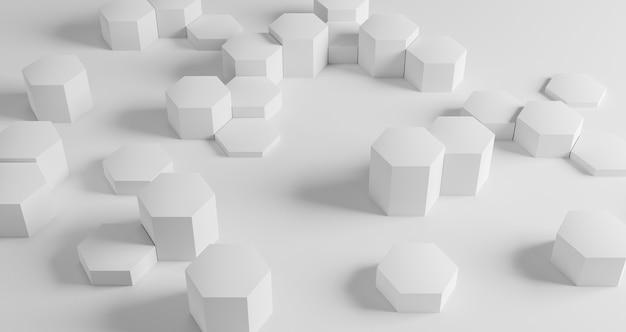 Papier peint géométrique moderne avec hexagones blancs