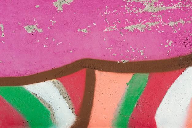 Papier peint graffiti mural abstrait coloré
