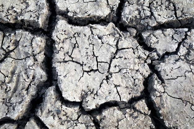 Papier peint, motifs et textures de sol fissuré, sécheresse de la terre
