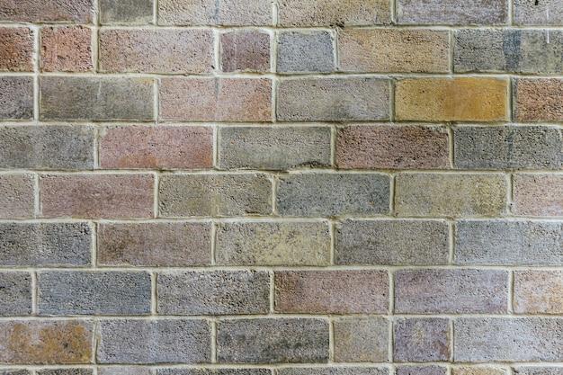 Papier peint texturé mur de briques colorées fanées