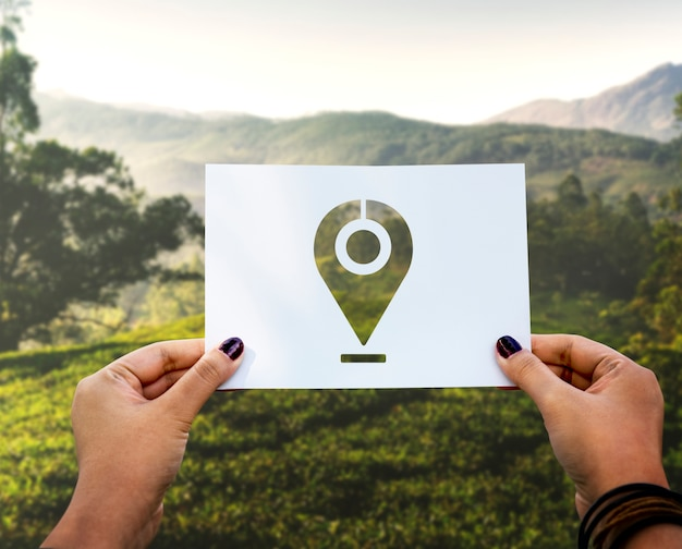 Papier perforé marqueur de destination du système de positionnement global