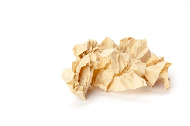 Papier recyclé sur blanc