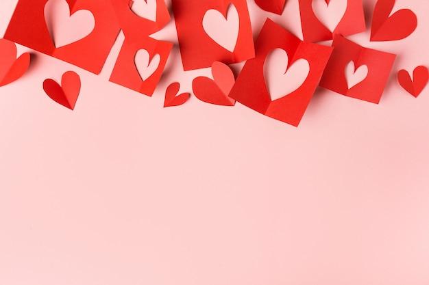 Papier saint valentin coeurs rose