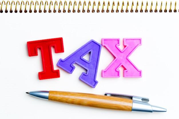 Papier vierge avec taxe