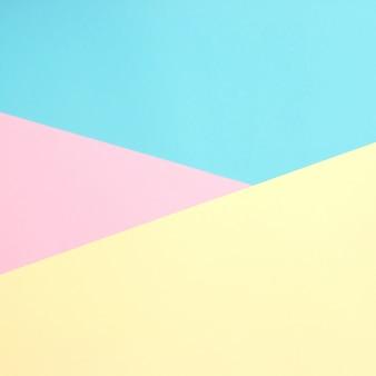 Papiers de couleur fond plat composition géométrie avec des tons pastels