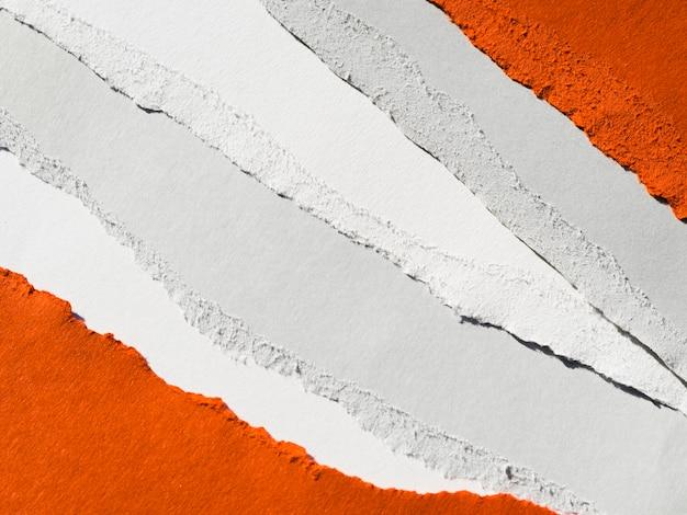 Papiers déchiquetés bicolores
