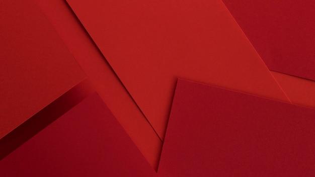 Papiers et enveloppes rouges élégants