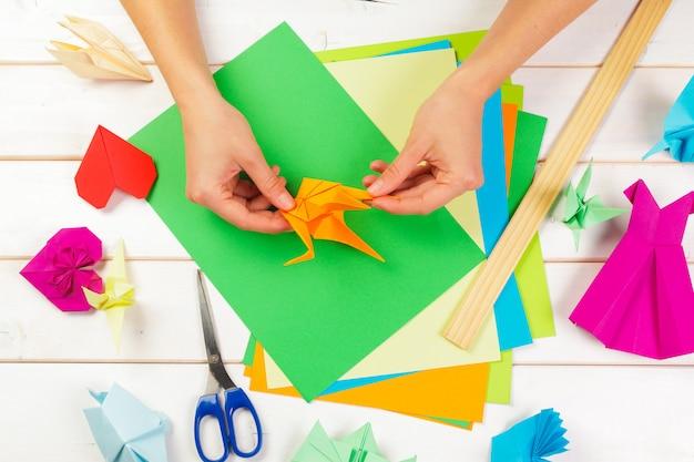 Les papiers d'origami se bouchent