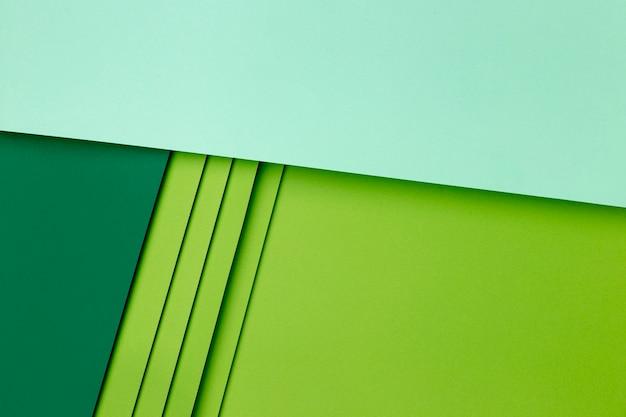 Papiers vert clair et foncé