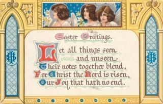 Pâques de cru carte de vœux