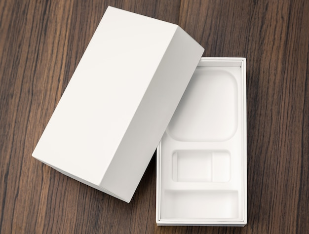 Paquet blanc vide